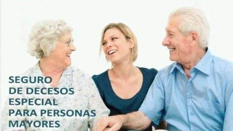 Seguro de decesos para mayores de 65 que aun no tienen cobertura de sepelio.